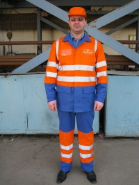 Костюм рабочий повышенной видимости мод. «К4М105» (куртка брюки) СТБ 1387-2003