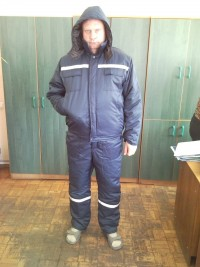 Костюм рабочий утепленный (куртка с капюшоном полукомбинезон) мод. К8УКП2УМ109У СТБ 1387-2003